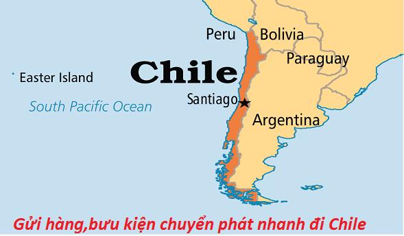 Gửi hàng,bưu kiện chuyển phát nhanh đi Chile
